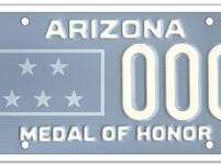 The Arizona medal of honor specialty plate is only available to those who have received a Congressional Medal of Honor.