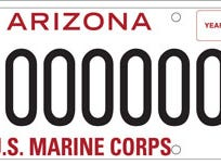 Arizona U.S. Marine Corps specialty license plate