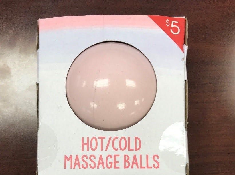 Vivitar hot/cold massage balls:The massage balls leak or rupture during or after microwaving, posing a burn hazard.