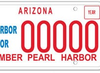 Arizona Pearl Harbor survivor specialty license plate