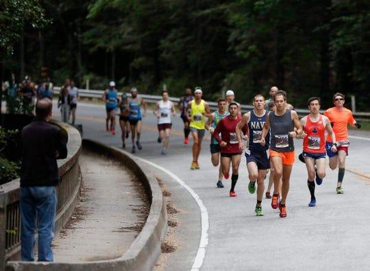 Port Huron High School graduate Adam Roach competes at the Big Sur International Marathon.