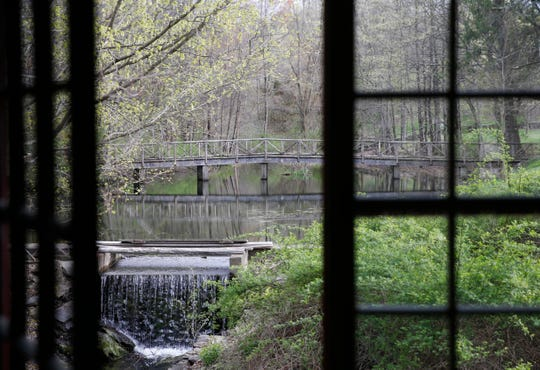 The creek that flows through the property at The Dutchess in the Township of Clinton  on April 25, 2019. The Dutchess is branded as a secret hotel and restaurant providing guests with a unique stay in the Hudson Valley.