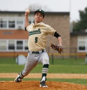 Roosevelt's Marco Finocchi delivers a pitch against Saugerties during an April 29 game.