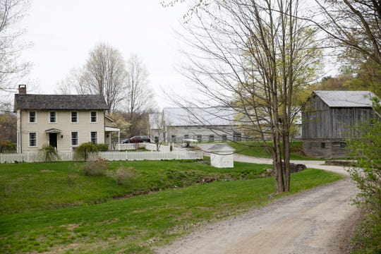 The guest cottage and surrounding barns at the The Dutchess in the Township of Clinton on April 25, 2019. The Dutchess is branded as a secret hotel and restaurant providing guests with a unique stay in the Hudson Valley.