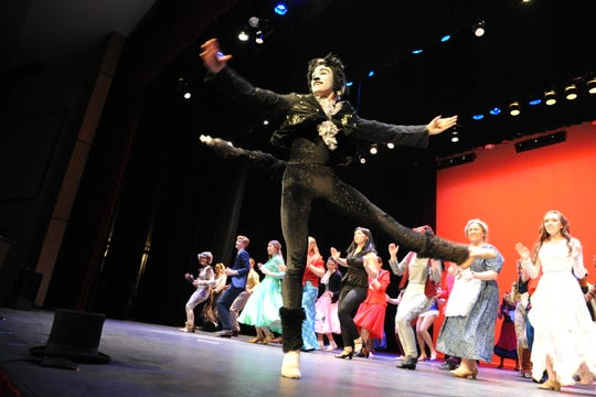 Malcolm Ellis, a senior at Hanover Senior High School, dances in the 2019 Encore showcase on Sunday, April 28.  The annual showcase celebrates the spring high school musical season in York County. (Photo by: Mike Inkrote)