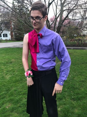 Wyatt Cheatle's his/her prom outfit.