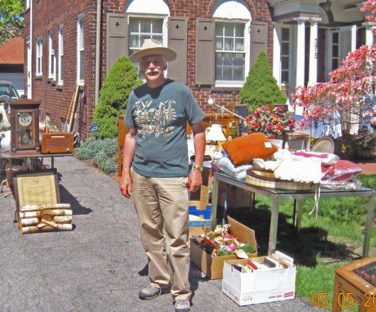 Browncroft resident David Kaiser at his garage sale