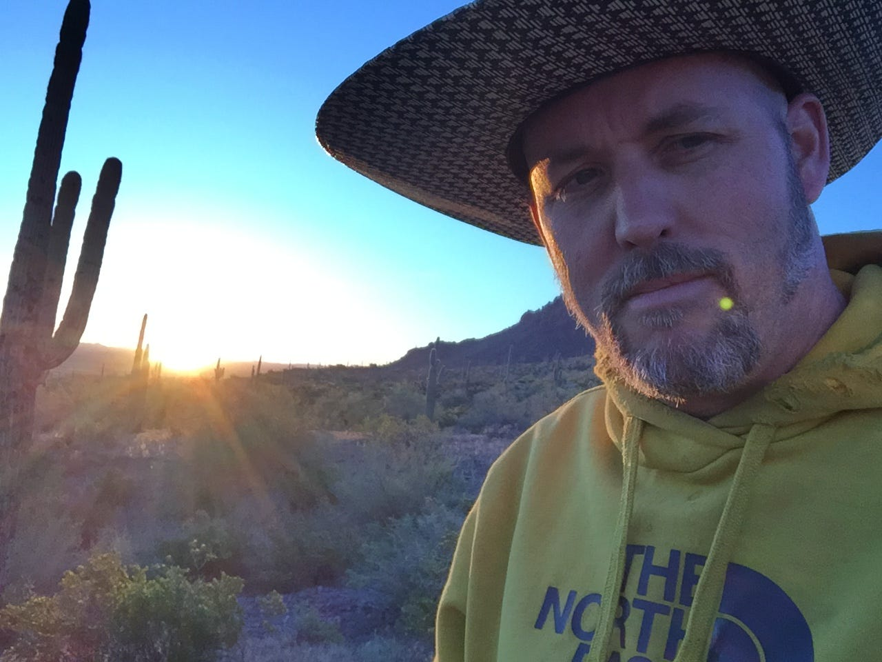 Halverson somewhere in the Utah desert in early 2016 just a few months before he became so despondent he attempted suicide.