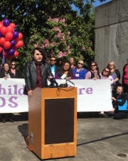 Former foster youth Justin Blivens urges lawmakers to fully fund child welfare programs and higher more caseworkers.