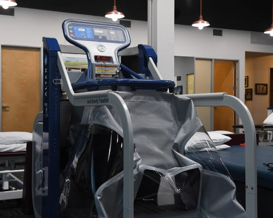 The Alter-G Treadmill uses compressed air to help users recover from injury and regain mobility.