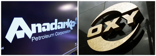 Chevron's offer of $33 billion for Anadarko's oil and gas fields in Texas, New Mexico is expected to be countered by Occidental Petroleum of Houston, with backing from Berkshire Hathaway.