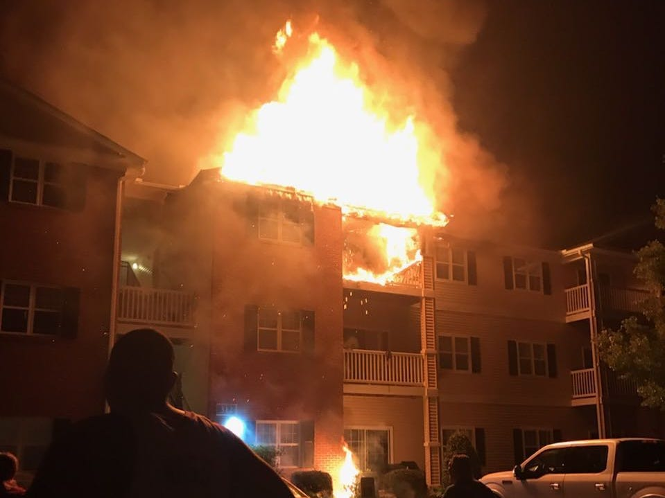 Firefighters responded to a two-alarm fire Tuesday morning, April 30, at the Mill Pond Village Apartments in Salisbury. There were no injuries and all occupants were safely evacuated, Salisbury Fire Department said.