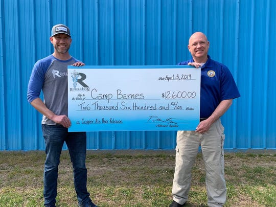 Revelation Craft Brewing Company donated $2,600 in March to Camp Barnes, a nonprofit run by Delaware State Police that aims to combat juvenile delinquency through summer camp. Its upcoming beer garden in Hudson Fields will continue supporting the organization.