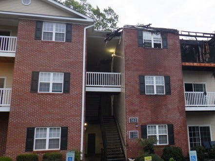 This is the aftermath of a Tuesday, April 30, 2019, fire at a building in Mill Pond Village Apartments in Salisbury.