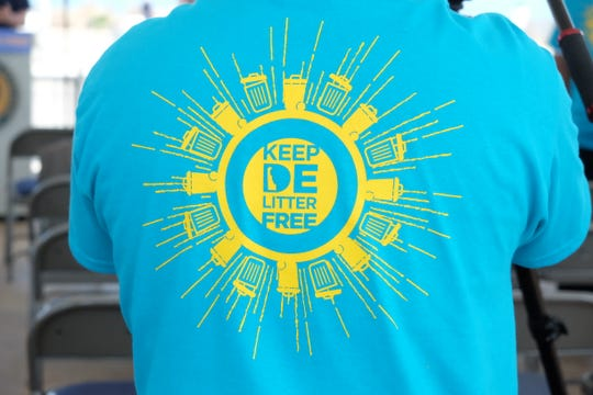 "Governor John Carney launched the ""Keep DE Litter Free"" campaign on Tuesday at the Rehoboth bandstand."