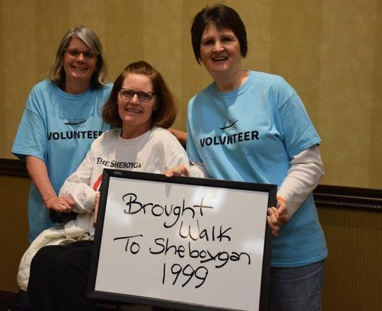 Kathleen Ferguson, Joni Schubert and Angie Hollister brought the MS walk to Sheboygan.