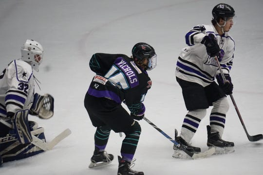 Shreveport Mudbugs forward Carson Nichols fought for ice time early in the season. Now, he's the Mudbugs' leading scorer in the postseason.
