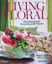 "Cover of book ""Living Floral"" by author Margot Shaw who speaks here May 6."