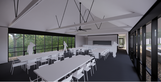 Artist's rendering shows the interior of the Ozarks Education Center classroom.