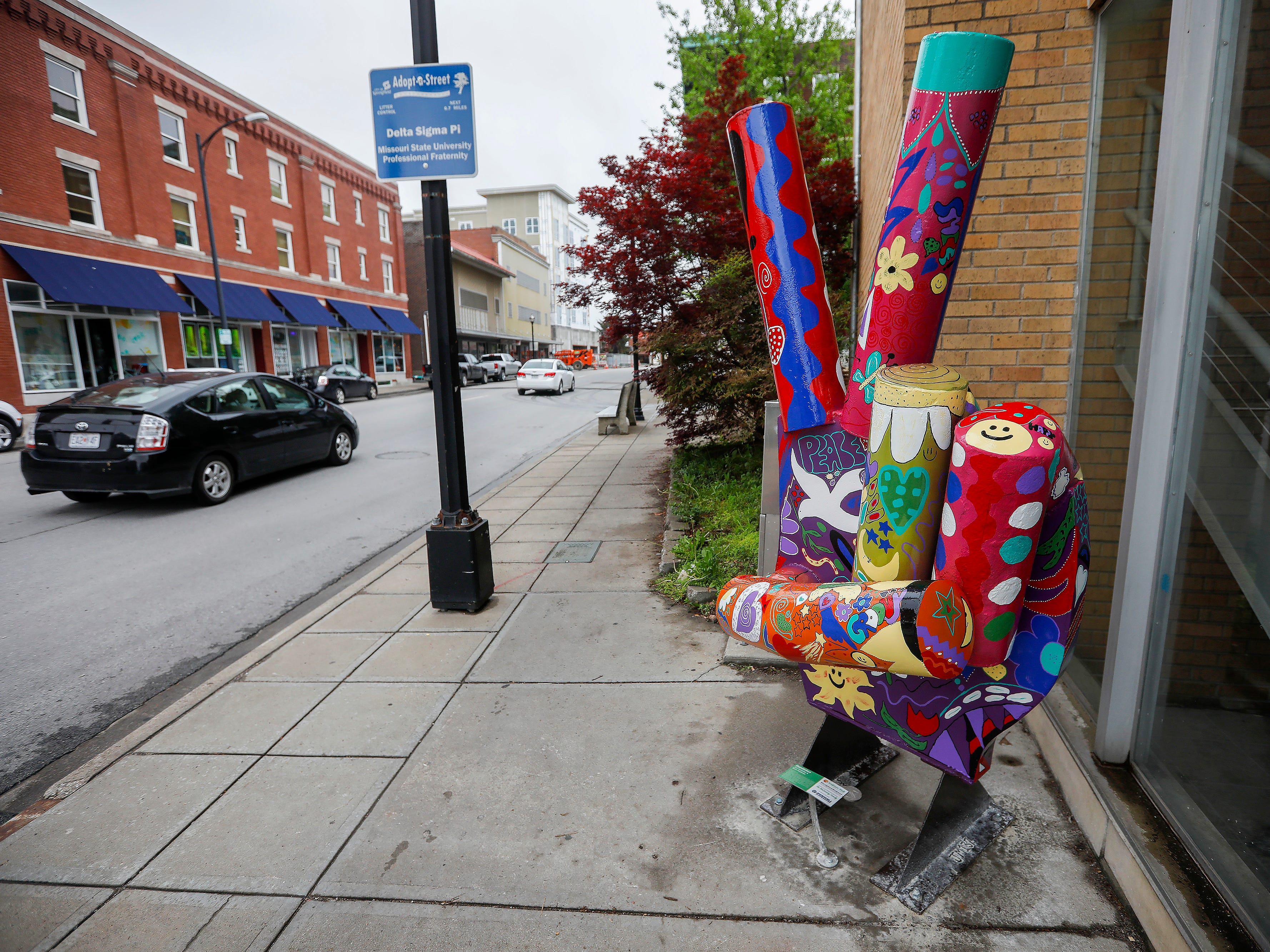 """Groovy"" by Joe and Terry Malesky is located on Jefferson Avenue just south of Walnut Street."