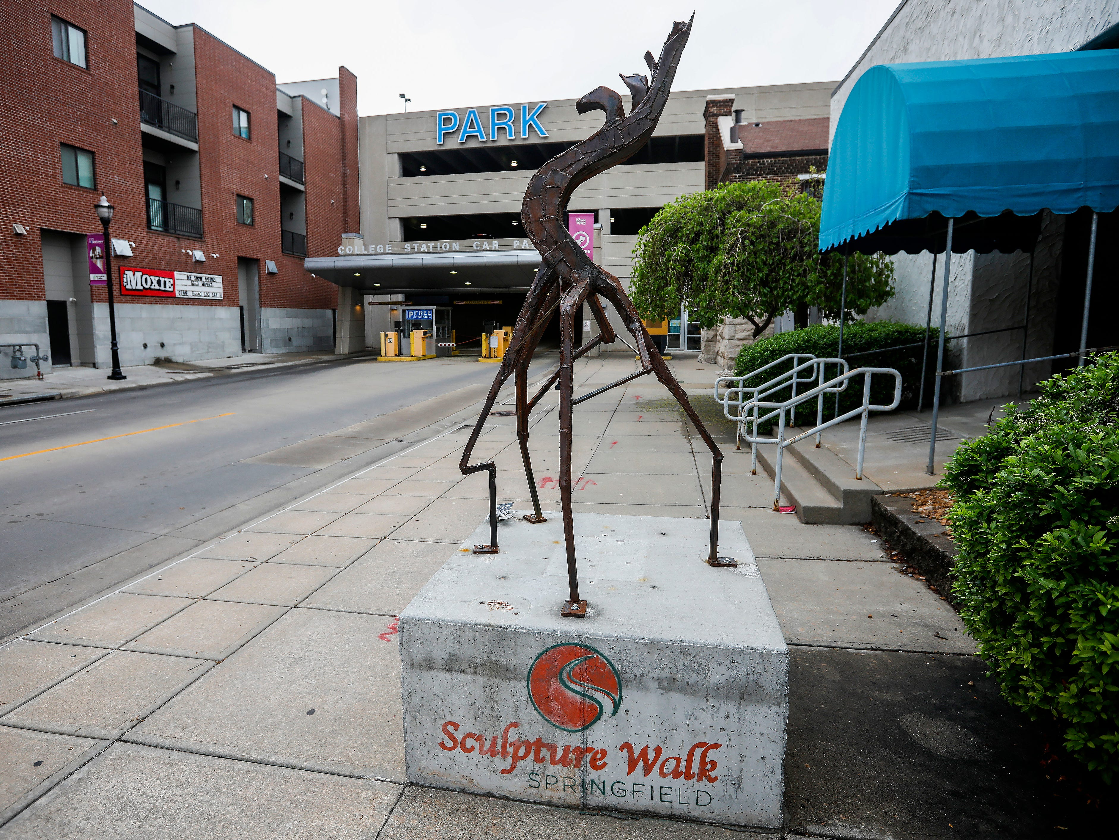 """Decay"" by Deanna Hoffman is located on McDaniel Street west of Campbell Avenue."