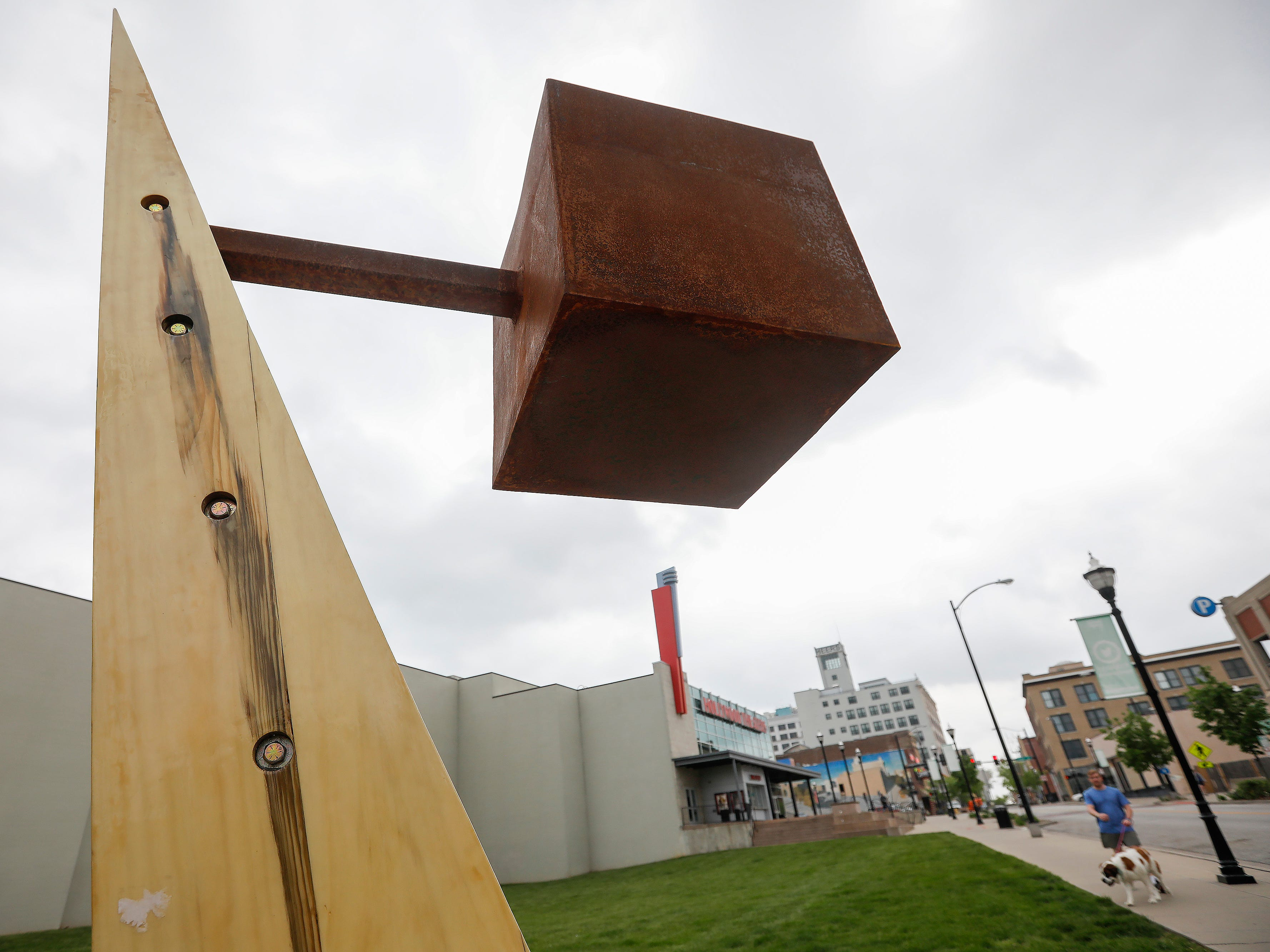 """Natural Balance"" by Jeffrey Barrett is located on College Street and Main Avenue."