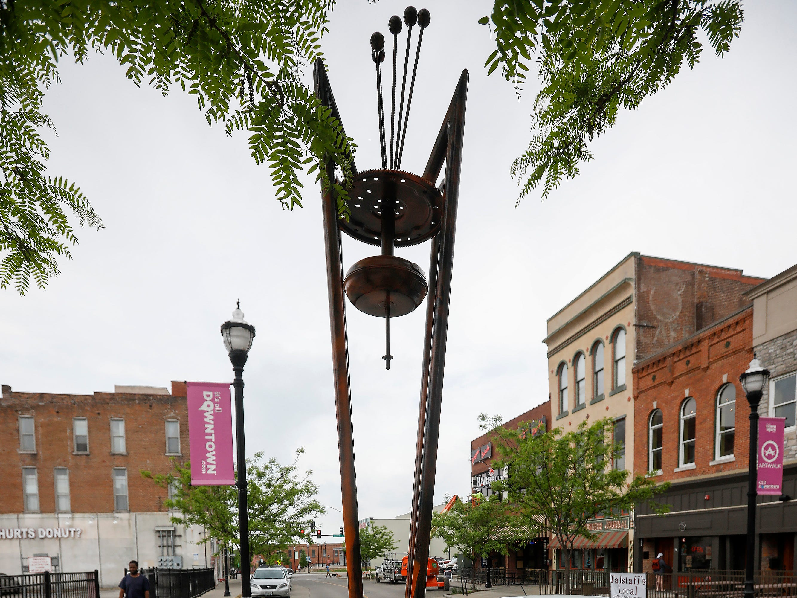 """Castrovalva"" by James Hulsey is located on Park Central West."