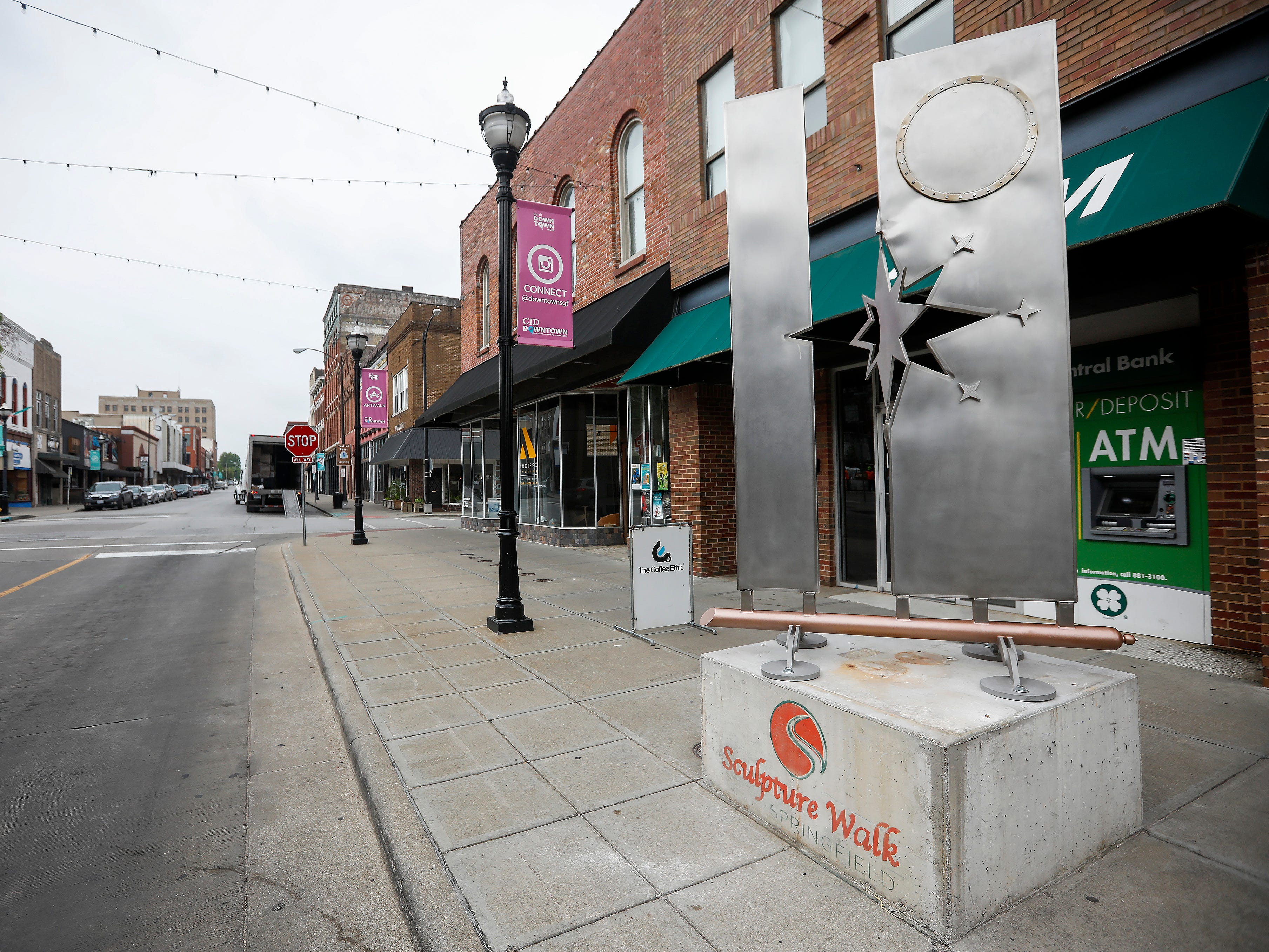 """Springfield Rising"" by Larry Askren is located on South Avenue just south of Park Central Square."