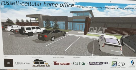 This is a artist's rendition of what the new headquarters for Russell Cellular should look like when the building is ready to open in the first quarter of 2020.