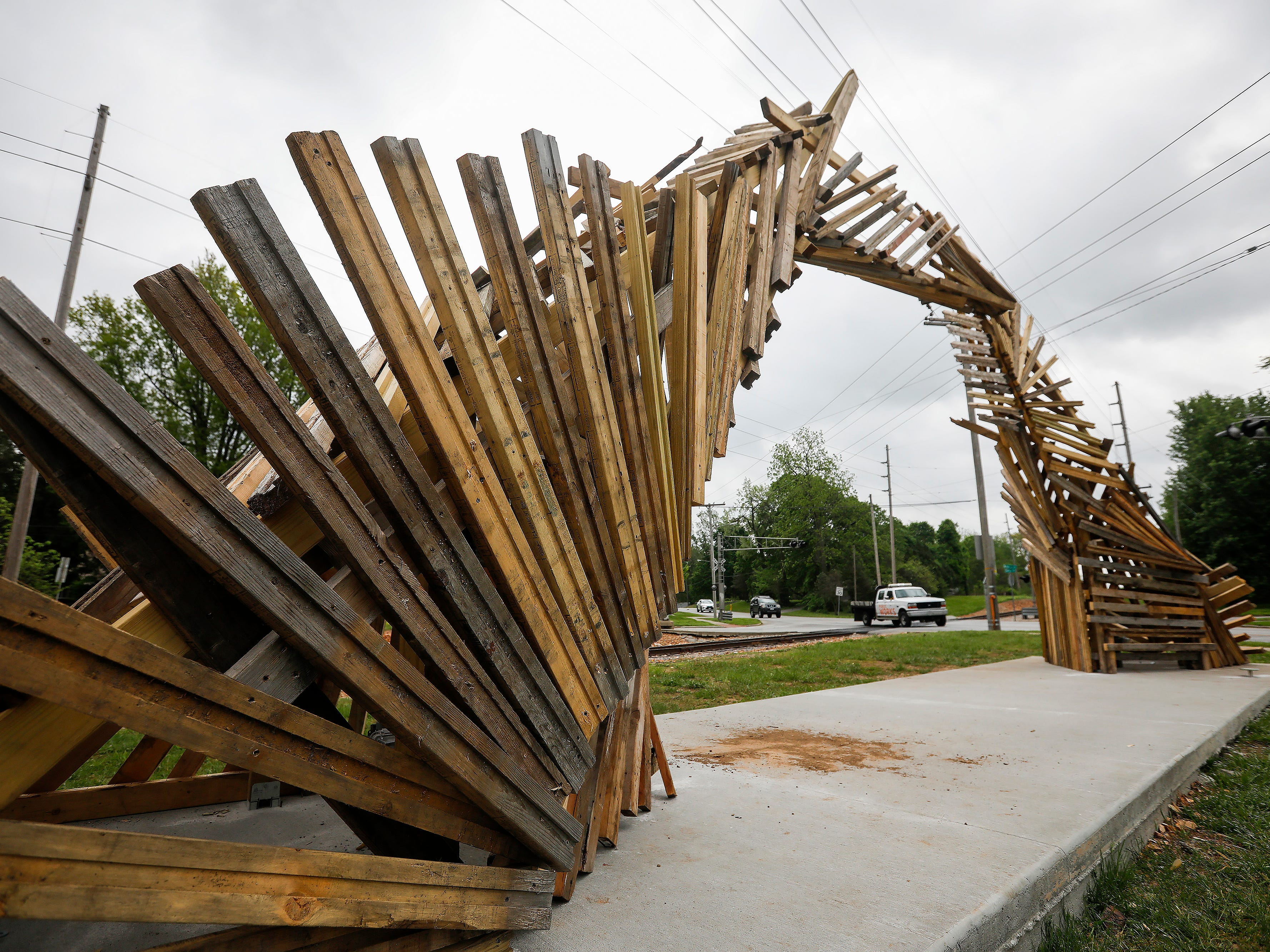 """Portal #5"" by Gabe Meyer and Jared Zillig is located on Cherry Street at Tie & Timber Beer Co."