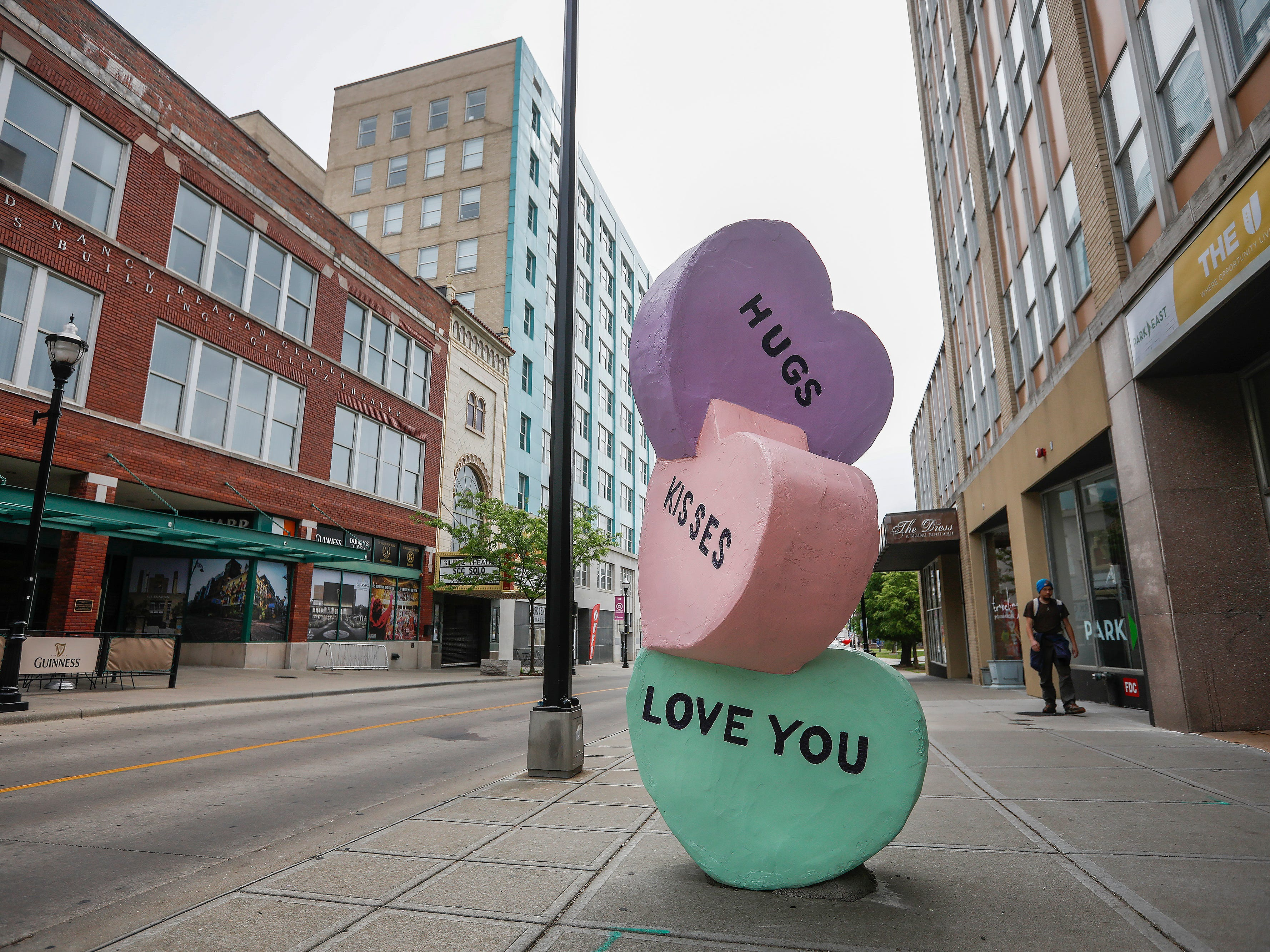 """Sweethearts"" by Craig Gray is located on Park Central East."
