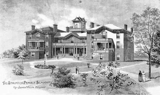 Staunton Female Academy was founded in 1870 as the Lutherans response to Staunton's Methodist, Episcopal and Presbyterian seminaries. It was located in three stylish brick buildings at the south end of Fayette Street.