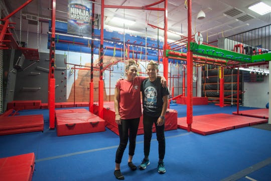 Kai Beckstrand and his mother Holly at the Grip Fitness Center in St. George. This is where Kai trained to become the first ever champion in the 11-12 year old division of American Ninja Warrior Junior.