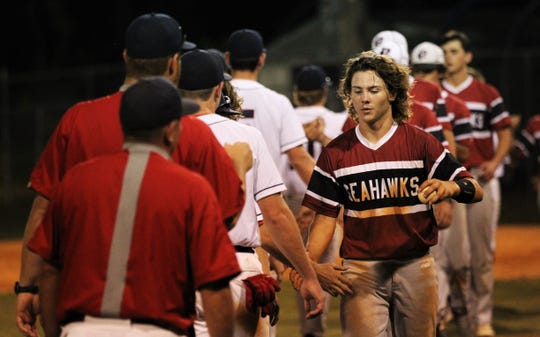 Wakulla's baseball team beat Franklin County 8-0 during a home game on Monday, April 29, 2019.
