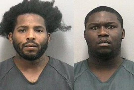 Jermain Allen (left) and Rayquan Campbell were arrested after deputies said they tried to steal rims off two vehicles in a Stuart apartment complex.