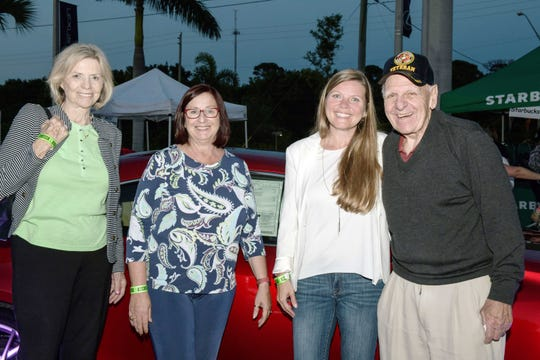 Madeline Aidala, left, St. Lucie County Commissioner Linda Bartz, St. Lucie County Property Tax Appraiser Michelle Franklin and Thomas Aidala at Big Brothers Big Sisters' Taste of St. Lucie at Treasure Coast Lexus in Fort Pierce.