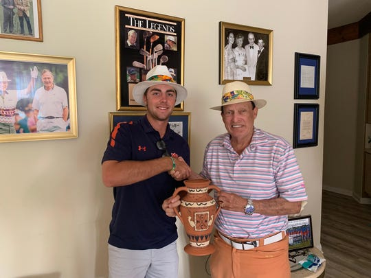Alex Vogelsong and World Golf Hall of Famer Chi Chi Rodriguez