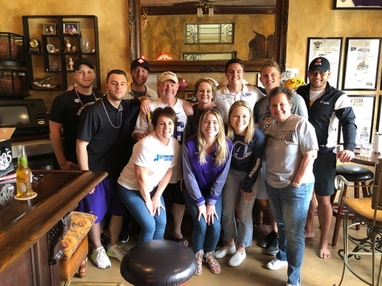 Friends and family gathered together in Camarillo on Saturday, hoping to share in Cole Tracy's draft-day moment. Instead, they supported the former Newbury Park High kicker (back row, third from the right) after he went undrafted.