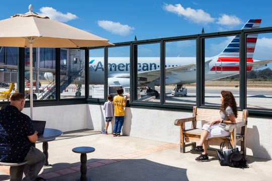 Santa Barbara Airport has been adding airlines and destinations making it a serious option for Ventura County residents. Still it's a homey enough place to still offer a patio for outside viewing.