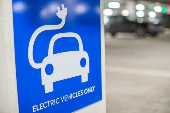 Electric vehicle sign