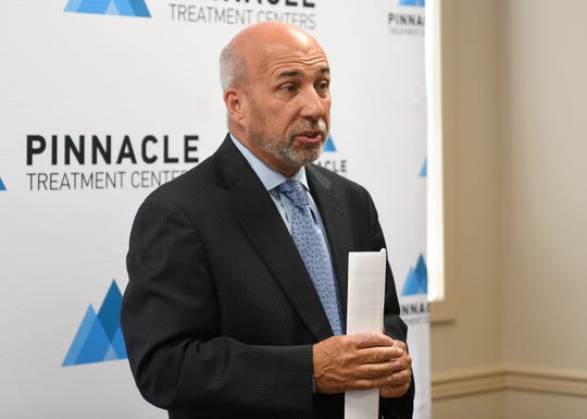 Chief Executive Officer Joe Pritchard speaks at the opening of Pinnacle Treatment Center's Vineland location on Tuesday, April 30, 2019.