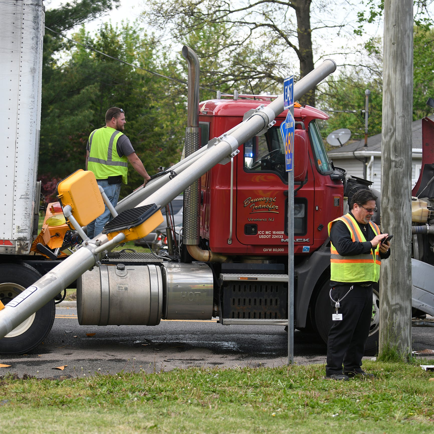 Vineland driver cited after collision with pedestrian, tractor trailer