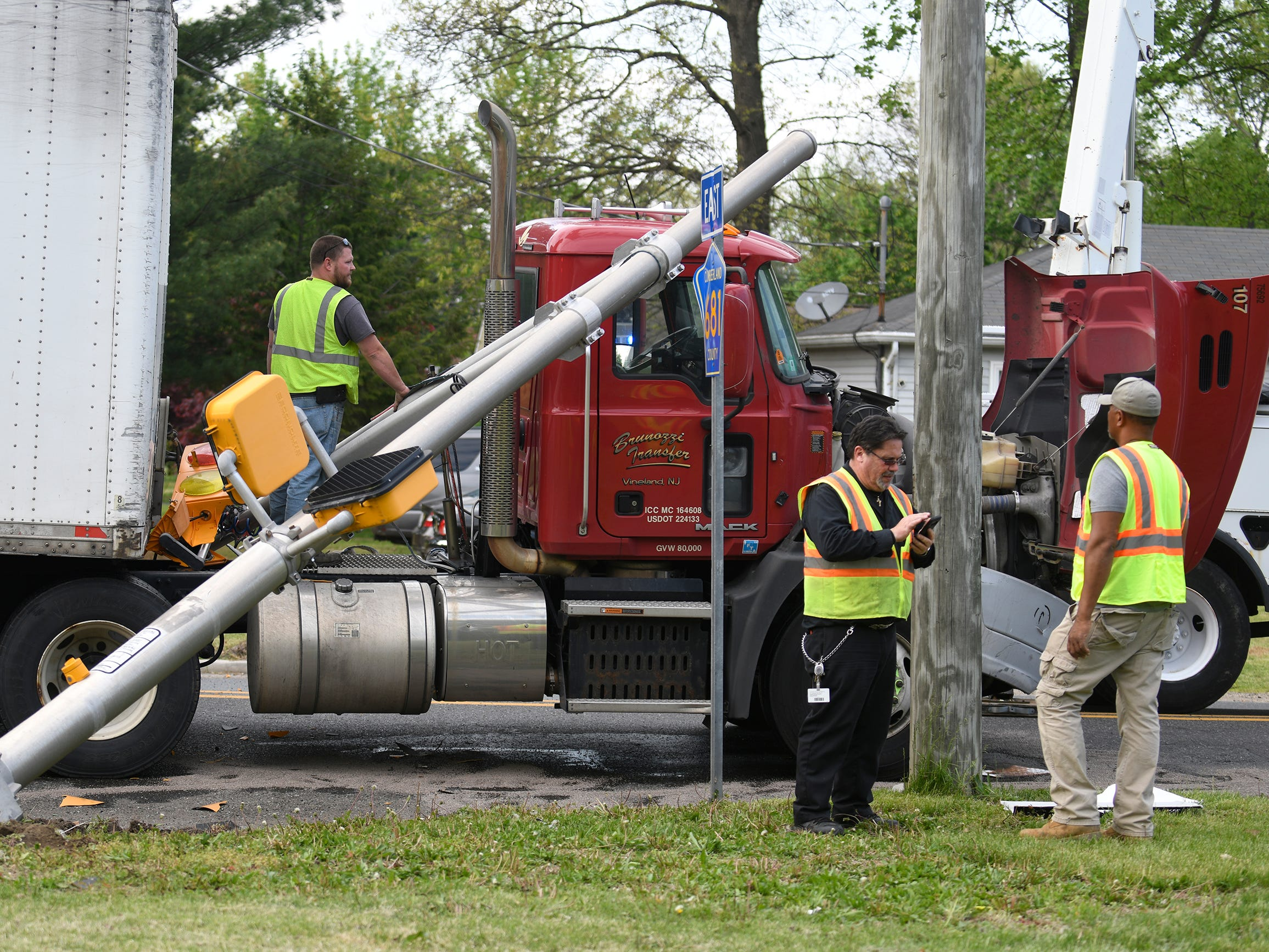 Police were on the scene of a vehicle crash at Oak Road and West Avenue in Vineland on Tuesday, April 30, 2019.