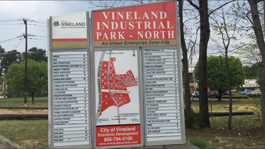 Location map inside Vineland Industrial Park North on North Mill Road.