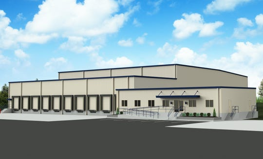 A rendering of a cold storage and freezer facility to be built in Vineland Industrial Park-North for KRES Cold Storage.