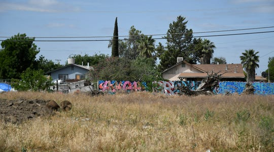 This vacant lot at the corner of Roy and Effie Drive in Goshen is one many that will be cleared through the Tulare County's weed abatement program.