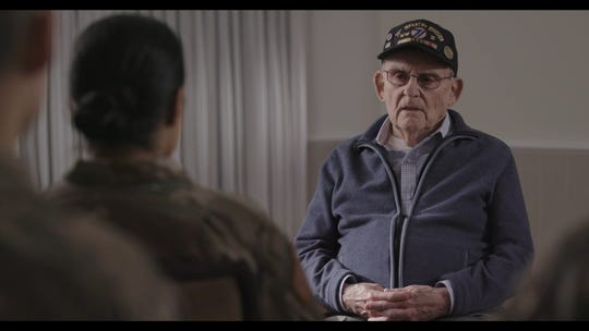 "Alan Moskin in ""Liberation Heroes: The Last Eyewitnesses."""