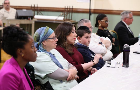 Residents attend an East Ramapo Schools budget presentation workshop at the Yeshiva of Spring Valley girls school in Monsey April 29, 2019.