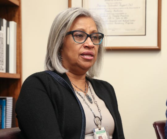 Maria Souto, Coordinator of Communicable Disease Programs discusses the process of investigating the measles outbreak at the Rockland County Dept. of Health office in Pomona on Tuesday, April 30, 2019.