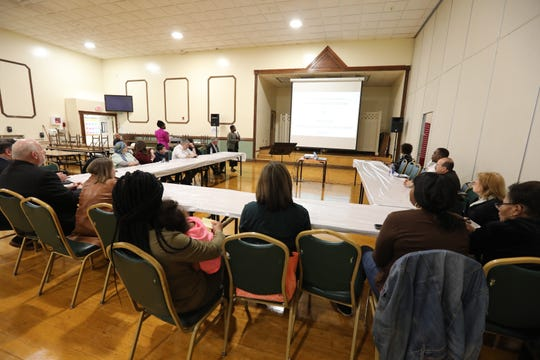 East Ramapo Schools budget presentation workshop at the Yeshiva of Spring Valley girls school in Monsey April 29, 2019.